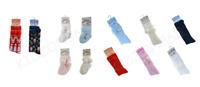 Baby Boy Girl White Red Blue Navy Cream Pom Pom Knee High Ankle Socks 0-18m New