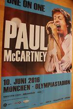 Paul McCartney Tourplakat/Tourposter 2016 - 2-teilig - Olympiastadion München