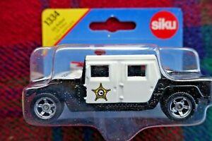 "SIKU 1334 1/55 US Police Car (Hummer H1) ""Police"" black/white (MIB)"
