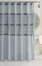 LC Lauren Conrad Sophia Cotton Polyester Bath Shower Curtain, Blue, New  Fabric