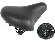 LARGE BIG BUM TRADITIONAL WIDE SPRING BIKE BICYCLE CYCLE PADDED SADDLE SEAT 27A