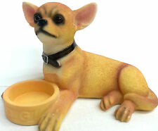 Chihuahua Dog With Bowl Ornament Figurine Statue Figure Gift  New Boxed