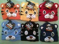 Boys Girls Kids Animal Hat One Size Warm Winter Ski Hat Childs NEW Hand Knitted