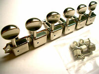 Kluson Vintage Double Line Mechaniken 6 links nickel