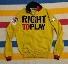 Kappa Italia Right to Play Charity Foundation Spellout Yellow Track Jacket L