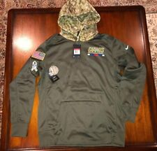 Men's Nike New York Giants Salute to Service Sideline Therma Pullover Hoodie L