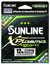 Sunline Xplasma Asegai Green Braided Line 165 Yards Braided Bass Fishing Line