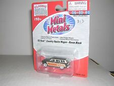 "C.M.W. Mini Metals #30253  1953 Ford Country Squire Wagon ""Raven Black"""
