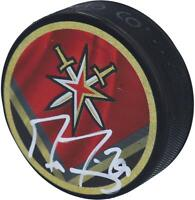 Marc-Andre Fleury Vegas Golden Knights Autographed Reverse Retro Hockey Puck