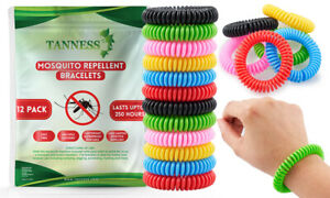 TANNESS 12 Pack Mosquito Insects Bugs Repellent Spiral Bands Travel Outdoor