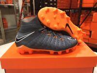 Nike Junior Hypervenom Phantom 3 Elite DF FG Cleats (Dark Grey/Orange) Size: 4-6