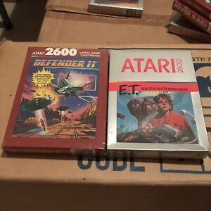 Private Listing * ET / Defender &more Lot Of 6 Atari 2600 Games.Plus 1 Free Game