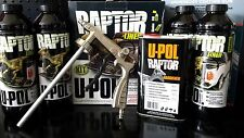 RAPTOR URETHANE BLACK INCLUDING GUN TUB LINER KIT PROTECTIVE COATING 4L