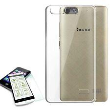 FUNDA BOLSA TRANSPARENTE + 0,3 H9 Vidrio Protección para Huawei Honor 4c/G