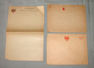 Original WW1 American YMCA Expeditionary Force Unused Paper Correspondance