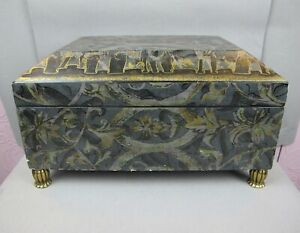 """Superb large brown Maitland Smith hinged sarcophagus BOX / CHEST. 15"""" x 11"""""""