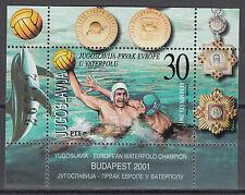 Југославија бр. 3037** (БЛ. 51**) Ватерполо европско првенство 2001 / Гевинн
