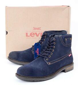 NIB LEVI'S Performance Sheffield Blue Suede Comfort Work Combat Boots 10 M EU 43