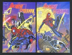 BACKLASH / SPIDER-MAN #1 & 2 Complete Set. Image Comics 1996