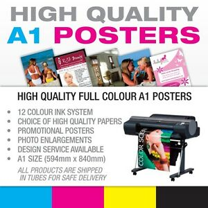 Full Colour Poster Print / Printing Service A1 on High Quality 190gsm Papers
