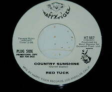 Red Tuck 45 Country Sunshine / A Big Man  PROMO on HAPPY TIGER Records NM