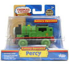 MOTORIZED PERCY BATTERY-POWERED WITH LIGHT Thomas Wooden Engine Train NIB