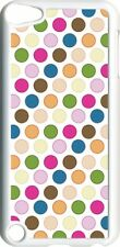 Multicolor Polka Dots Design on iPod Touch 5th Gen 5G White TPU Case Cover