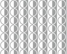 Retro Kreise - silber, weiß, glänzend - Vlies - A.S. Creation 2306-14 -  NEU