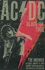 AC/DC-Black Ice Tour concert poster