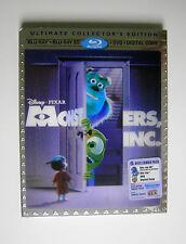 Disney Pixar Monsters Inc. 5 Disc Set 3D Blu-ray DVD Digital Copy Bonus Features