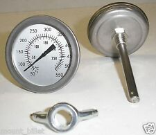 "F&C 3"" BBQ SMOKER/PIT/GRILL THERMOMETER TEMP GAUGE!"