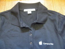 APPLE CAMPUS REP Ladies POLO SHIRT Black Employee NEW w/o Tags NWOT SM Small S