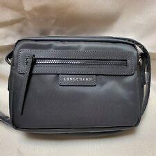 NWT Longchamp Le Pliage NEO Dark Gray Camera Grey Nylon Crossbody Shoulder Bag