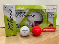 TaylorMade Soft Response Golfbälle - Farbe: Weiß - 12er Pack + 3 matt rot GRATIS