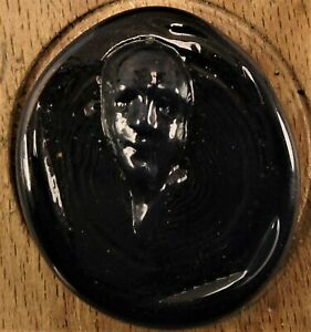 "1 1/8"" Face Coming Out of  Wood Button 131:4"