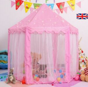Kids LED Princess Castle Play House Large Indoor/Outdoor Tents For Baby Girls US