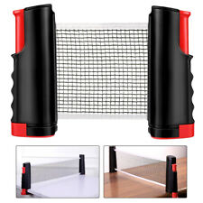 Retractable Table Tennis Net Rack Portable Replacement Ping Pong Sports 190x15cm