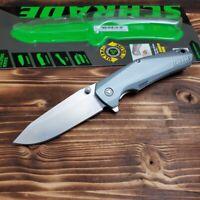 Schrade Satin Finish Aluminum Handle Linerlock Folding Pocket Knife SCH306