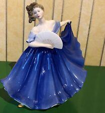 ROYAL DOULTON LADY ELAINE MODEL No. HN 2791 LARGE BLUE DRESS PERFECT
