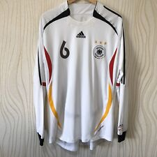GERMANY 2006 HOME FOOTBALL SHIRT SOCCER JERSEY LONG SLEEVE ADIDAS PLAYER ISSUE #
