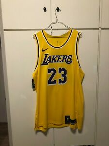 NBA Lebron James Los Angeles Lakers Nike Authentic Jersey sz. 52