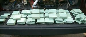 Salvage Lot of 300+ TILECREST Pale Green Marbled Plastic Wall tiles 4.25X4.25