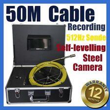 50M Cable Sewer Drain Pipe Recording Self-levelling Camera 512HZ Locator Sonde