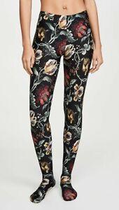 WOLFORD Jungle Print Floral Cheetah Tights Sz: XS R:$165 NWT