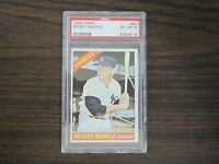 1966 Topps # 50 MICKEY MANTLE PSA 6 EX -MT Card New York Yankees