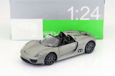 WELLY 1:24 AUTO PORSCHE 918 SPIDER  GREY GRIGIA   ART. 24031