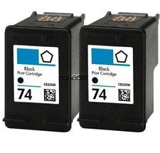 2-pk for HP74 Black Ink for Photosmart C4480 C4500 C4540 C5200 C5240 C5290 C5550