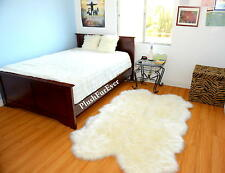 Fur Decor 5' x 7' Quad Sheepskin Warm White Shaggy Flokati Nursery Area Rug