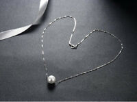 Cadena de Plata Perla Pure Real 925 Sterling Silver Pearl Chains Necklaces Women