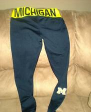 "MICHIGAN COLOSSEUM PANTS BLACK/YELLOW  POLYESTER/SPANDEX BLEND INS.28""NWT"